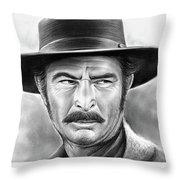 Lee Van Cleef Throw Pillow