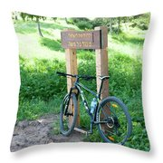 Leisure Cross Contry Cyclists Throw Pillow