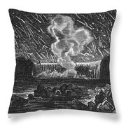 Leonid Meteor Shower, 1833 Throw Pillow by Granger