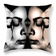 Let Her Cry  Throw Pillow