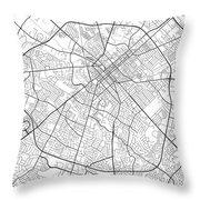 Lexington Kentucky Usa Light Map Throw Pillow