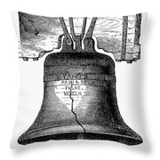 Liberty Bell Throw Pillow