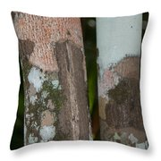 Lichen On The Trees At The Coba Ruins  Throw Pillow