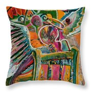 Life Angels On Duty Throw Pillow