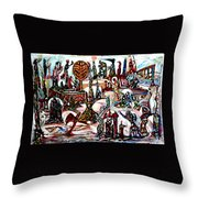 Life In Palestine Throw Pillow