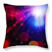 Light Burst-4 Throw Pillow