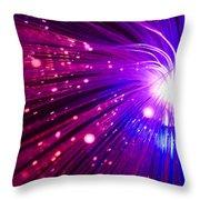 Light Burst-6 Throw Pillow