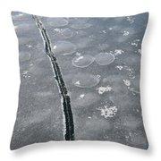 Light On The Ice  Throw Pillow
