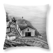 Lighthouse On The Point Throw Pillow
