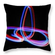 Light_paint Throw Pillow