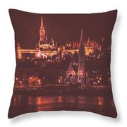 Lights Of Budapest Throw Pillow