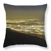 Lights Of Los Angeles, California Throw Pillow