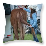 Lil' Cowgirl Throw Pillow