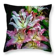 Lilies Of The Falls Throw Pillow