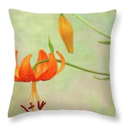 Lilium Pardalinum Throw Pillow