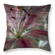 Lily Blossom Throw Pillow