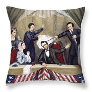 Lincoln Assassination Throw Pillow