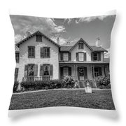 Lincoln Cottage In Black And White Throw Pillow