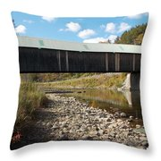 Lincoln Covered Bridge Throw Pillow