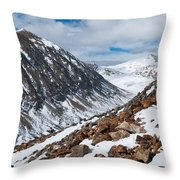 Lincoln Peak Winter Landscape Throw Pillow