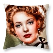 Linda Darnell, Vintage Hollywood Actress Throw Pillow