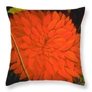 Linda's Red Dahlia Throw Pillow