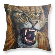 Lion Roar Throw Pillow