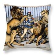 Lion Tamer, 1873 Throw Pillow