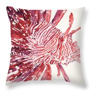 Lionfish Throw Pillow by Tanya L Haynes - Printscapes