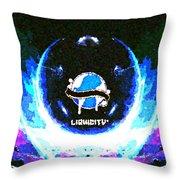 Liquicity Throw Pillow