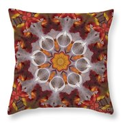 Liquidamber And Feathers Throw Pillow