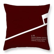 Lir Daniel Oduber Quiros International Airport In Liberia Costa  Throw Pillow