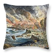 Lisbon Earthquake, 1755 Throw Pillow