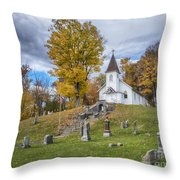 Country Church Throw Pillow