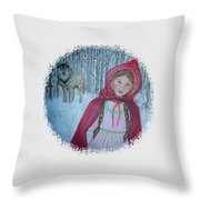 Little Red Riding Hood  Throw Pillow by The Art With A Heart By Charlotte Phillips