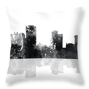 Little Rock Arkansas Skyline Throw Pillow