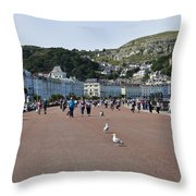 Llandudno Beach Throw Pillow