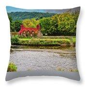 Llanrwst Bridge And Tea Room Throw Pillow