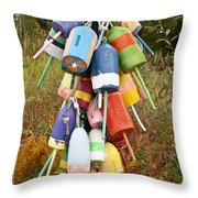 Lobster Bouys Throw Pillow