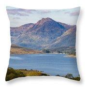Loch Arklet And The Arrochar Alps Throw Pillow