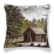 Log Cabin, 1826 Throw Pillow