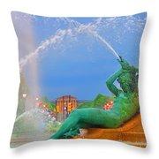 Logan Circle Fountain 1 Throw Pillow