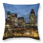 London Financial District Throw Pillow