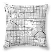 Long Beach California Usa Light Map Throw Pillow