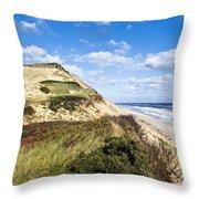 Long Nook Beach Throw Pillow