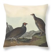 Long-tailed Or Dusky Grous Throw Pillow