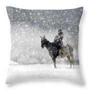 Longest Winter Throw Pillow
