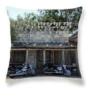Longhorn Saloon Throw Pillow
