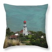 Looking Down At The Lighthouse Throw Pillow