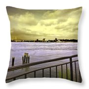Looking West From The East River Throw Pillow